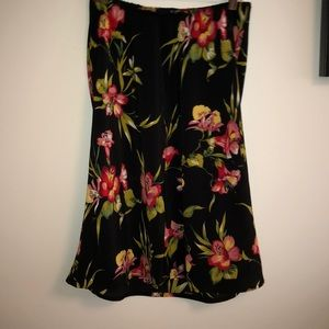 CUE flirty 100% polyester Floral design skirt